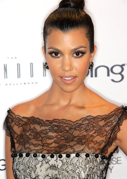 kourtney kardashian hair up. Kourtney opens up on her style