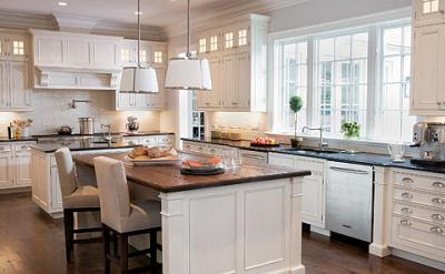 Shaker Style White Kitchen Cabinets