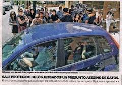 """(07/06) Agentes protegieron al """"asesino"""" de gatos por la TORTURA Y MATANZA DE GATOS en Tarragona"""