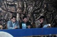 Presentación de MAREA DE SOMBRAS AZULES, de Teófilo Villacorta. Municipalidad de Huaraz.