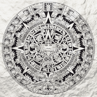 The Aztec calendar is one of the Mesoamerican calendars, sharing the basic