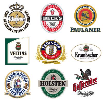 little collection of german beer vector logos.: vectorartgallery.blogspot.com/2009_08_01_archive.html