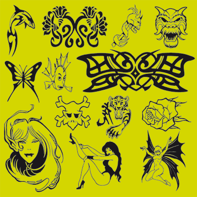 Digital Clipart Vector Biomechanics. T-shirt, Tattoo & Vehicle Design | 50