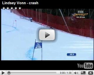 lindsey vonn crash  2006
