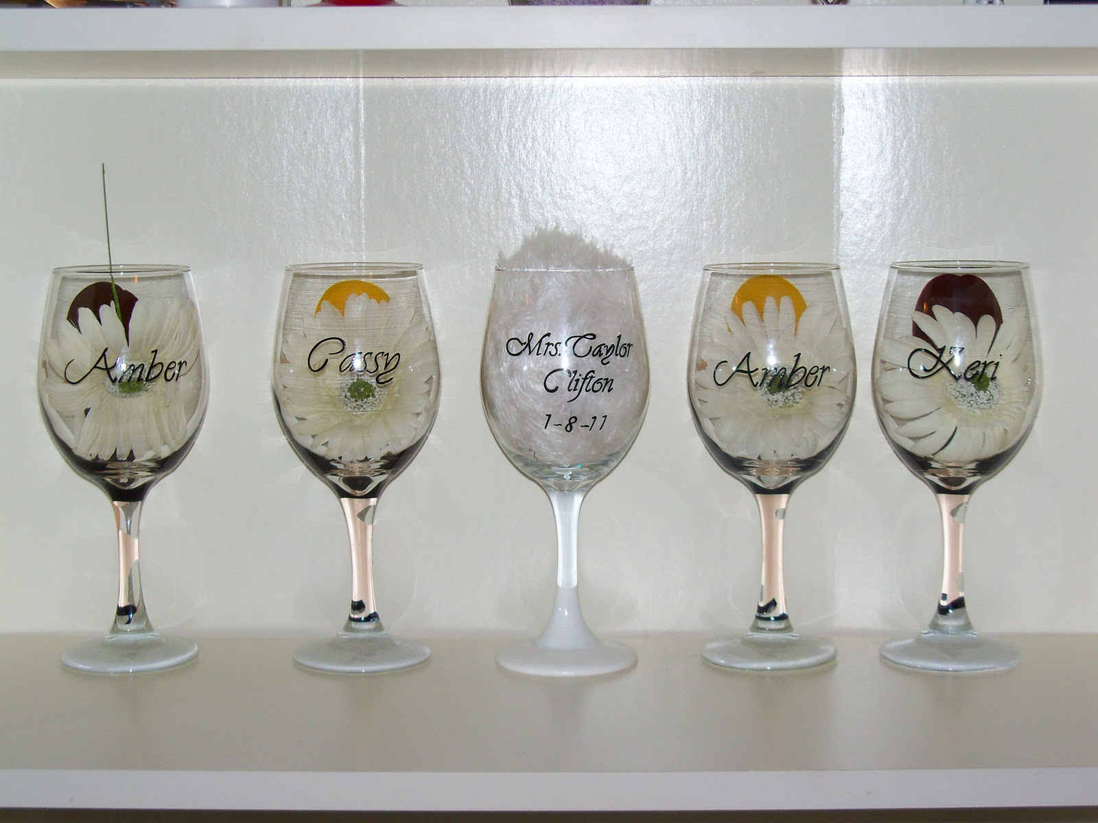custom personalized wedding bride glass