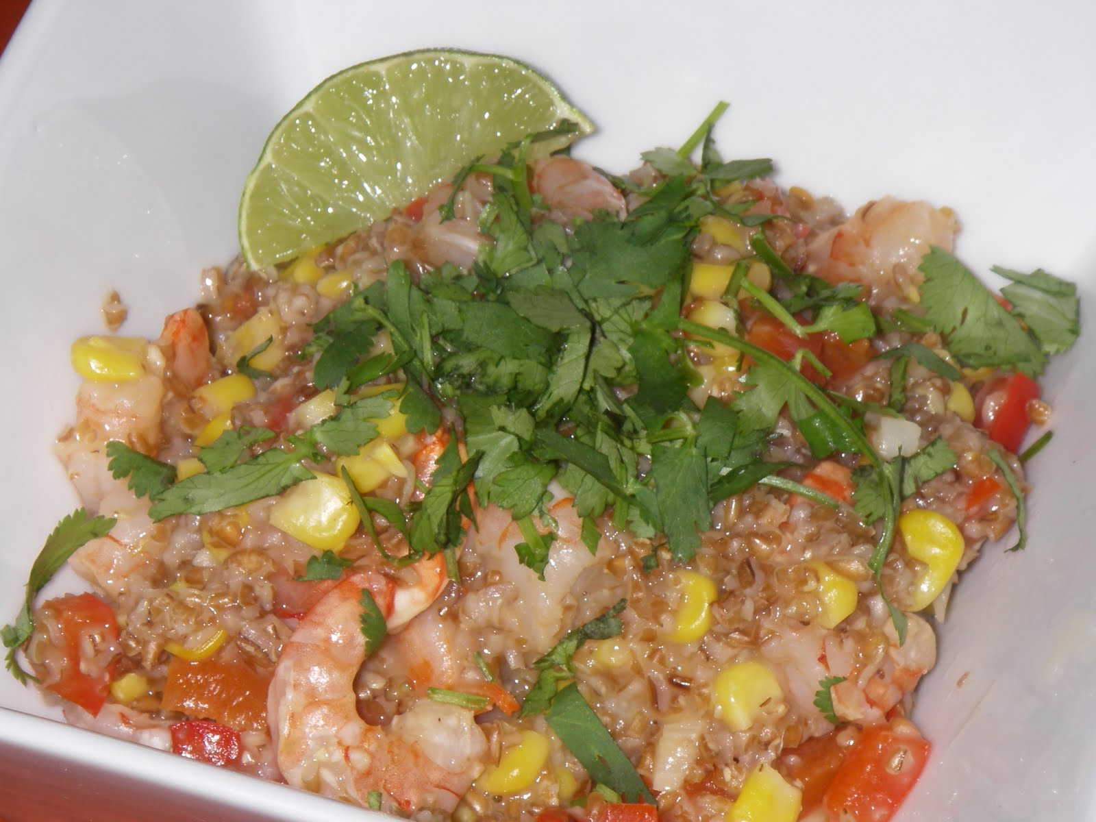 Bulgur Risotto With Corn And Shrimp Recipes — Dishmaps