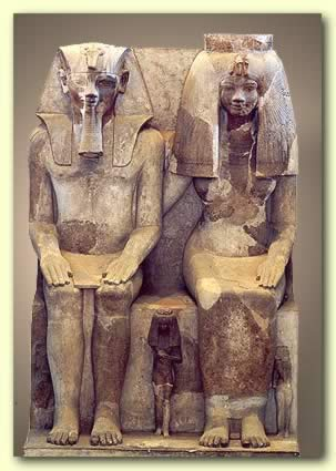 rei amenhotep e rainha tyie