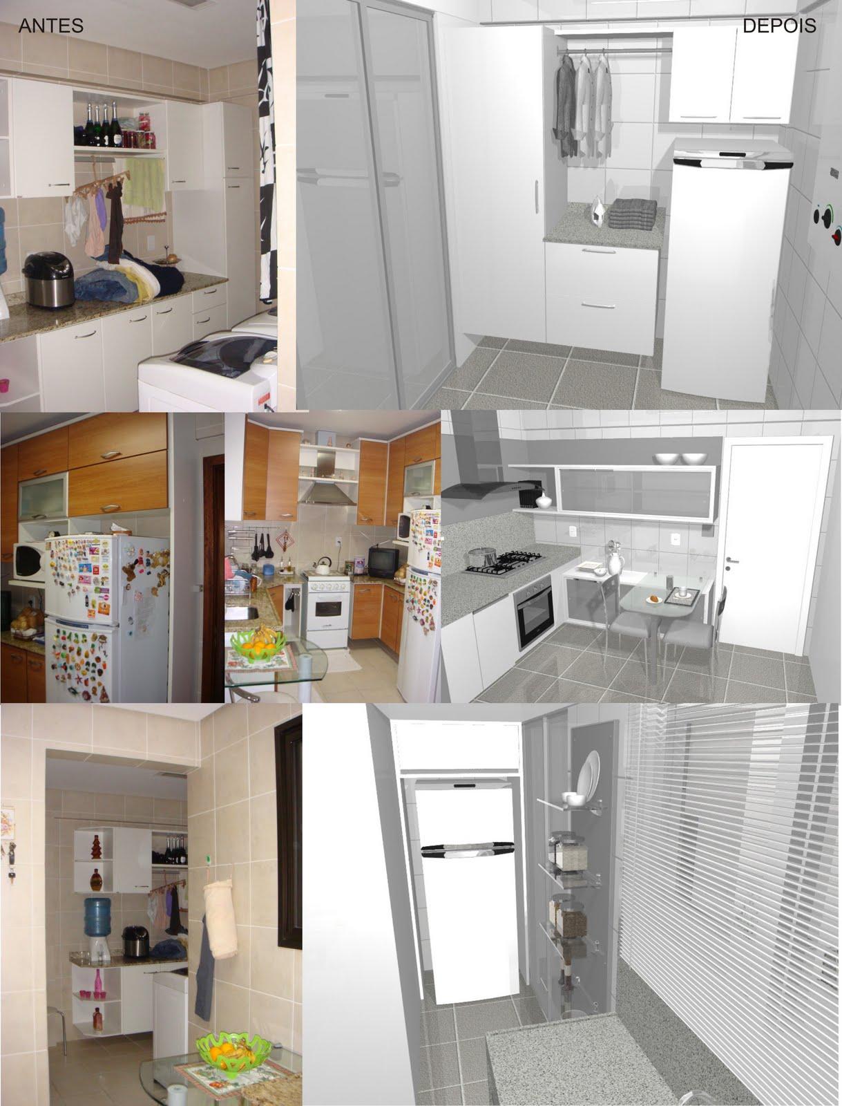 projeto de reforma de uma cozinha e uma lavanderia o desafio do  #A27529 1219 1600
