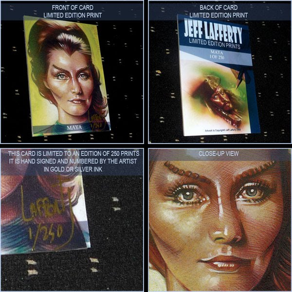 Catherine Schell as Maya, Limited Edition Signed Print by Jeff Lafferty