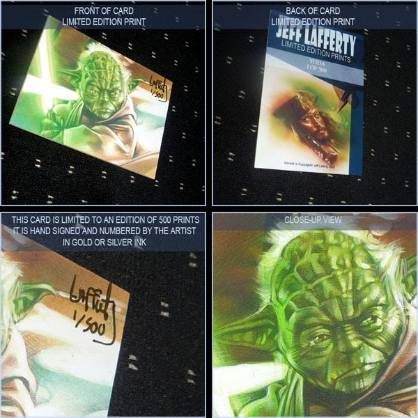 Yoda, Limited Edition Signed Print by Jeff Lafferty