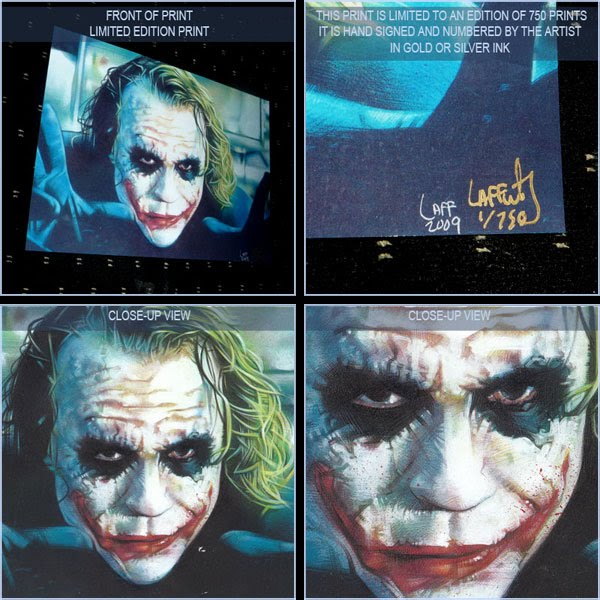 Heath Ledger as the Joker, Limited Edition Signed Print by Jeff Lafferty