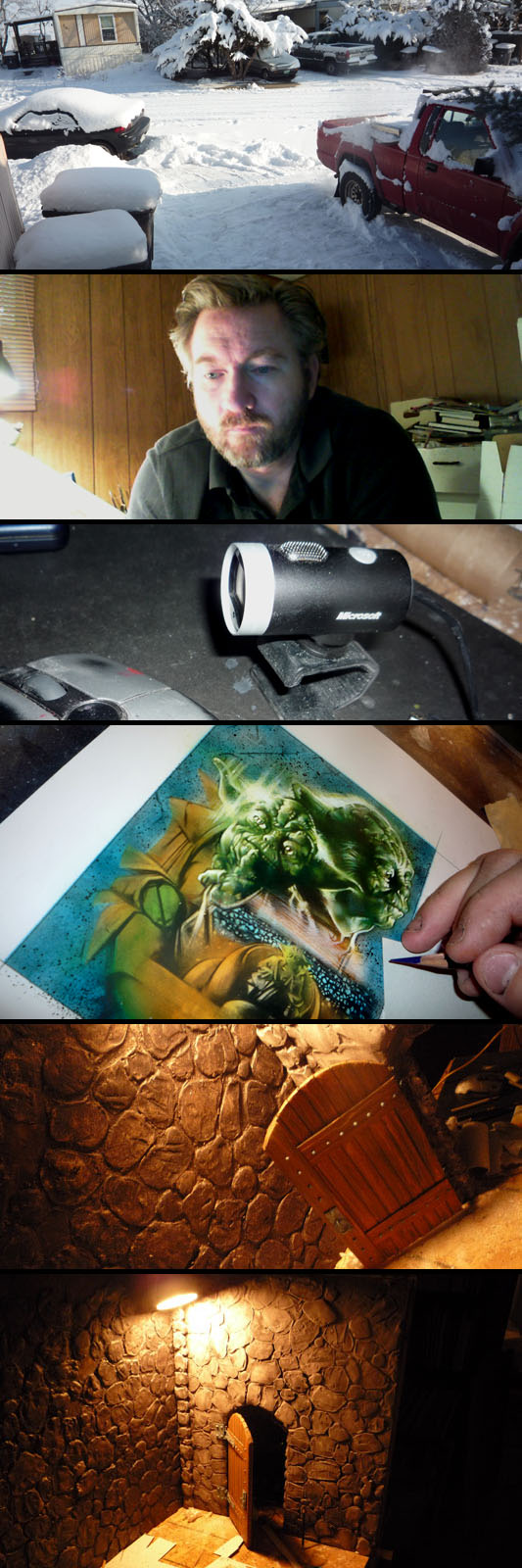 Blizzard, Jeff Lafferty, Lifecam, Yoda Painting and Stop Motion Model By Jeff Lafferty