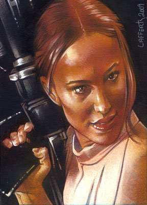 Padme ACEO Sketch Card by Jeff Lafferty