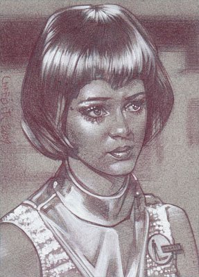 Gabrielle Drake (Pencil study) ACEO Sketch Card by Jeff Lafferty