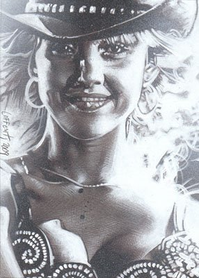 Jessica Alba  ACEO Sketch Card by Jeff Lafferty
