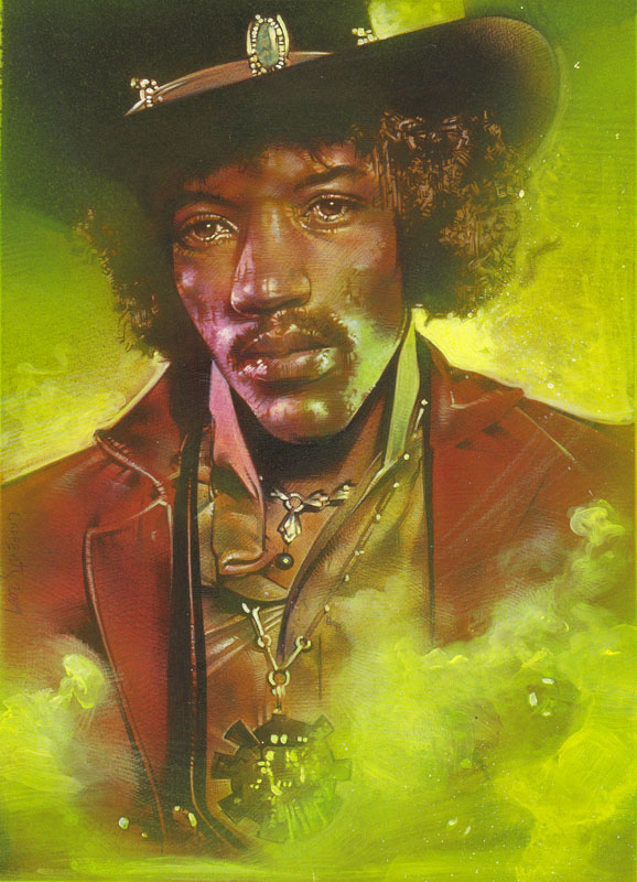 Jimi Hendrix Original art by Jeff Lafferty