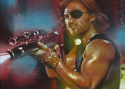 Snake Plissken ACEO Sketch Card by Jeff Lafferty