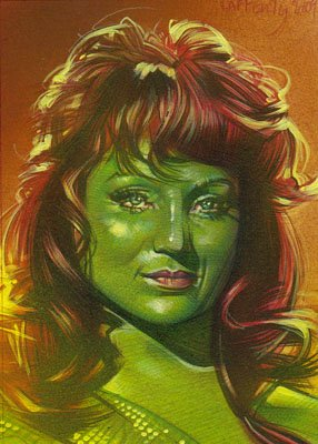 Susan Oliver as Vina ACEO Sketch Card by Jeff Lafferty