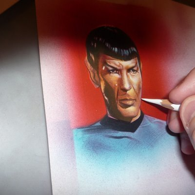 Star Trek ACEO Sketch Cards by Jeff Lafferty