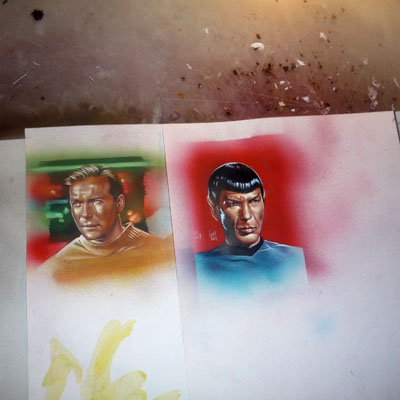 Captain Kirk and Mr. Spock Original art by Jeff Lafferty