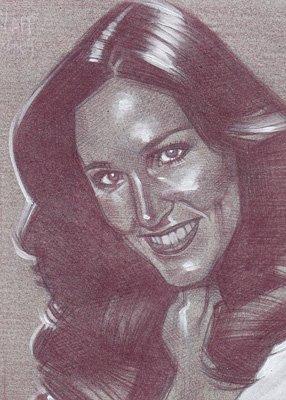 Erin Grey (Pencil study) ACEO Sketch Card by Jeff Lafferty