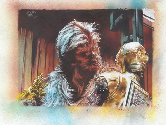 Star Wars Original Art by Jeff Lafferty