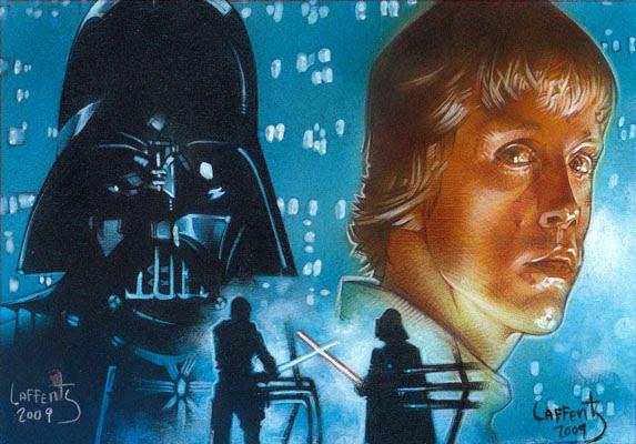 Darth Vader vs. Luke Skywlaker from Star Wars, Original Art by Jeff Lafferty