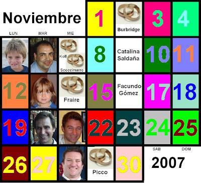 efemerides de la semana de noviembre: