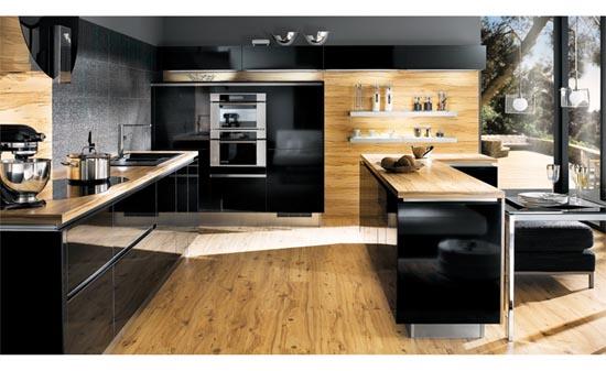 Cocinas negras antioquia interiorismo blog - Cuisine noire et bois ...