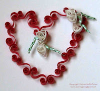 quilling valentine heart
