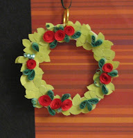 free quilling quilled wreath pattern