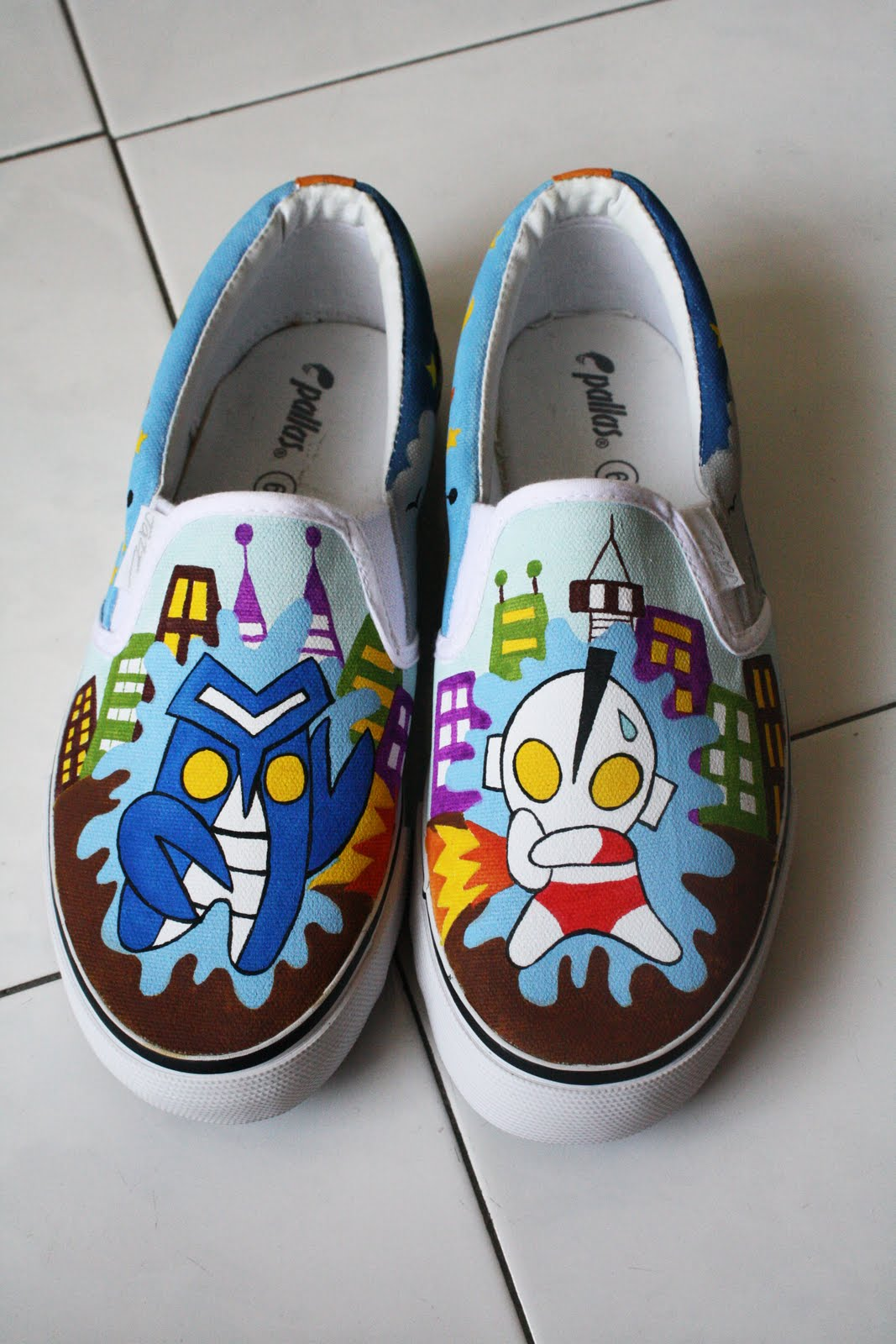 s creation canvas shoes painting