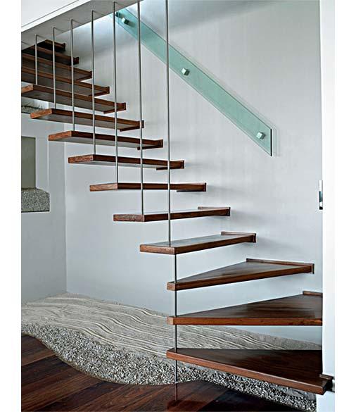 escada jardim madeira : escada jardim madeira:Construção dos Sonhos: 28 modelos de escadas de madeira