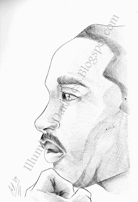 sketch of Martin Luther King Jr.
