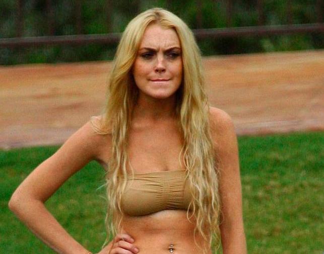 lindsay lohan machete pool scene. Nipple Gate: Lindsay Lohan