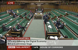 MPs debating the Digital Economy Bill