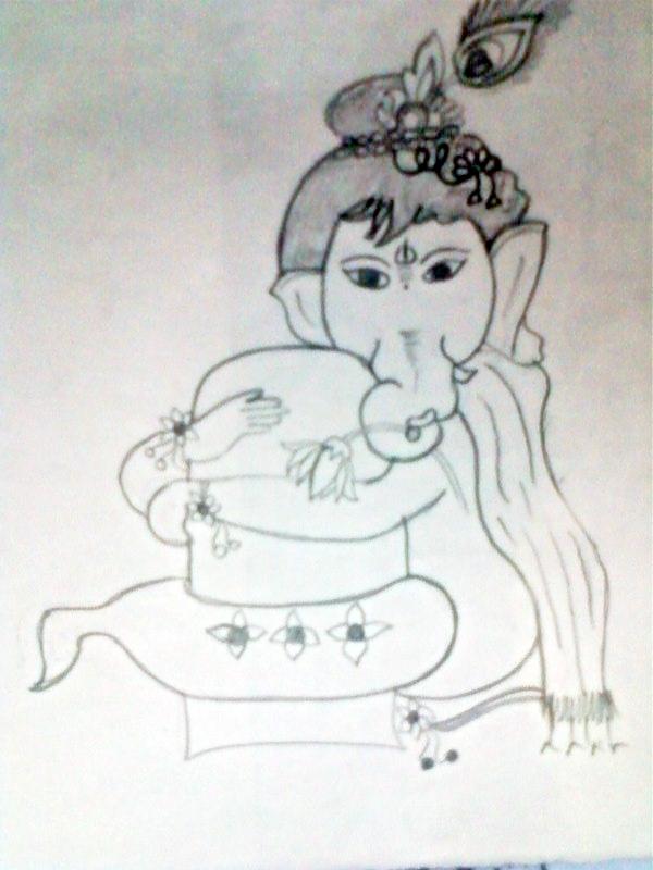 galleries ganesh drawing simple ganesh drawing outline ganesh drawing ...