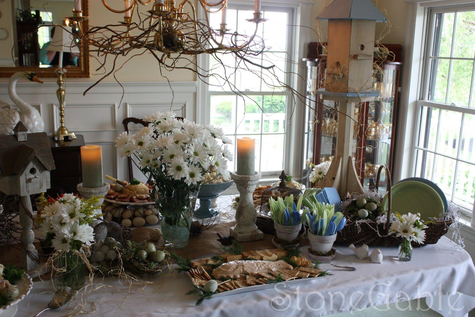 A Bridal Shower Tablescape Stonegable
