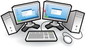 una sola tastiera e mouse