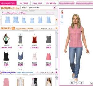 modella virtuale da vestire
