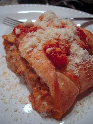 Chicken Pesto Calzone Braid