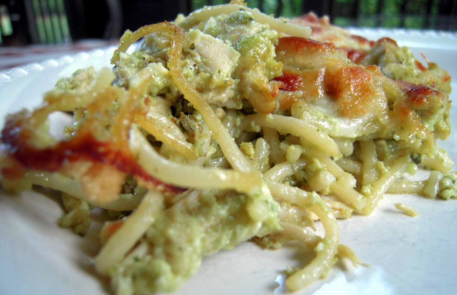 Pesto Chicken Pasta Casserole