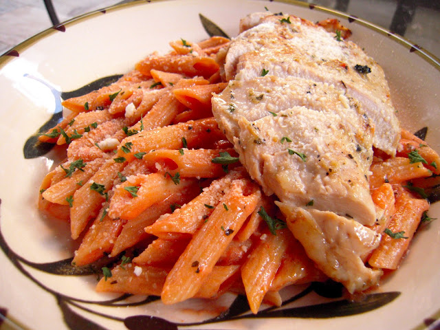 Grilled Chicken & Tomato Cream Sauce | Plain Chicken