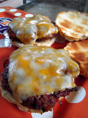 "Ranch Burgers - ranch, bacon and fried onions in the burgers! This is our ""go-to"" burger recipe!"