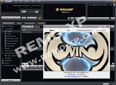 Software winamp terbaru 2010. Selain merupakan media pemutar audio dan vid