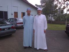 bersama As-Syeikh Isa Al-Mi'sorawi ketika seminar tarannum di Kota Bharu