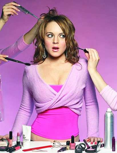 lindsay lohan mean girls halloween costume. dresses of Lindsay Lohan