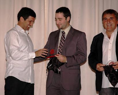 Pablo Blanco y Claudio Gugnali con Juan M. Arias