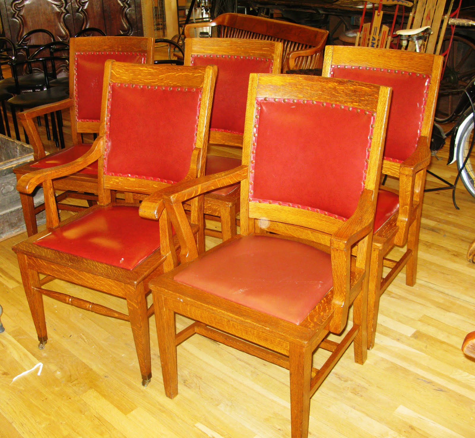 Antiques Vintage And More Courthouse Chairs