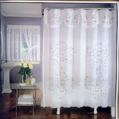 flower shower curtain with attached valance is a lovely shower curtain